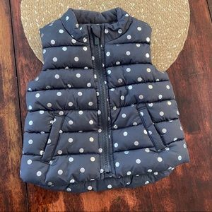 3/$20 Old Navy Polka dot puffer vest